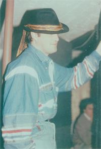 Frank Hall 1993 im Rockstar Studio 1 in Neuss