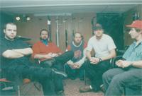 Second Nature 1997 left to right:  Roland (Bass-Guitar), Akos (Guitar), Frank (Keys), Ralf (Keys/Vocals) Fernando (Producer)